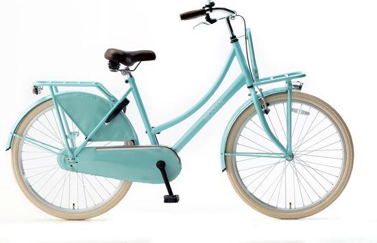 Nogan Vintage Transportfiets - Meisjes - Ultra Aqua - 26 inch
