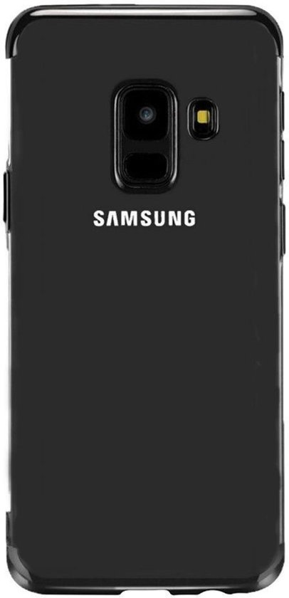 Teleplus Samsung Galaxy J6 Luxury Laser Silicone Case Black hoesje