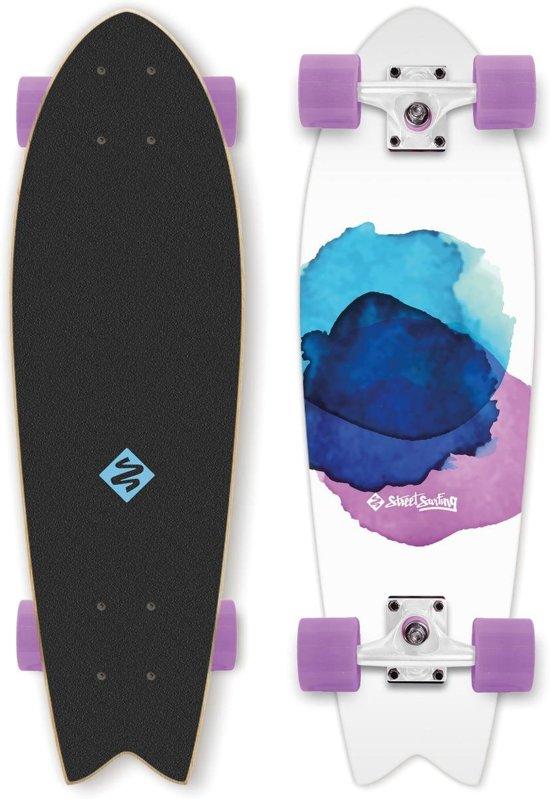 Skateboard Cruiser Fishtail, JELLY FISH, Kinder Longboard, 30''