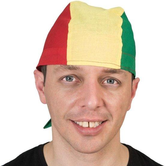 Bandana in rood, geel en groen