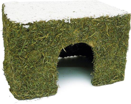 Winter Hooi Huis Met Sneeuw Knaagdier 27 x 20 x 18 cm
