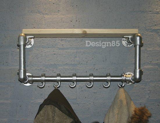 Eigentijdse design meubelen kapstok steigerbuis 6 haken - Eigentijdse meubelen ...