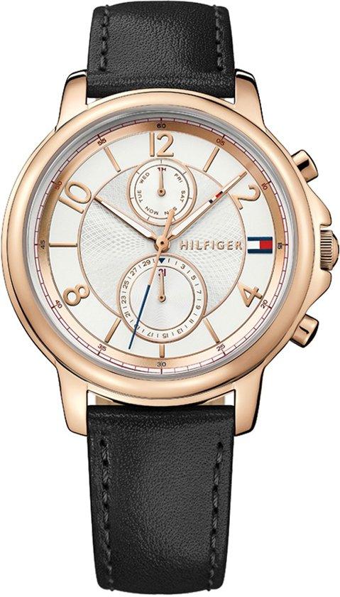 Tommy Hilfiger TH1781817 horloge dames zwart edelstaal PVD ros