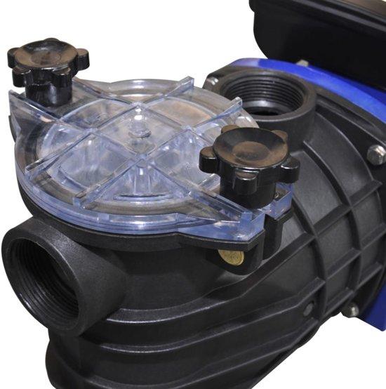 vidaXL - Zwembad Elektrische zwembadpomp 500W - blauw
