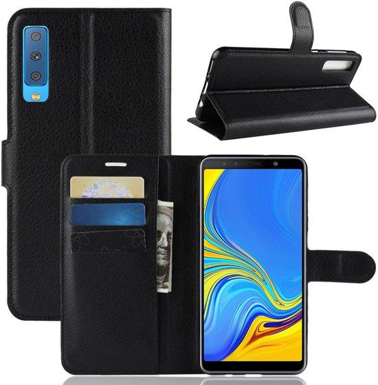 Book Case Samsung Galaxy A7 (2018) Hoesje - Zwart