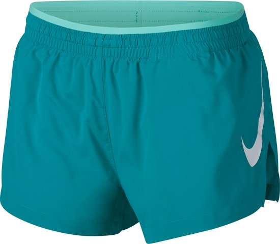 Nike Elevate Trck Short Gx Sportbroek Dames - Spirit Teal/Tropical Twist/Wit - Maat XS