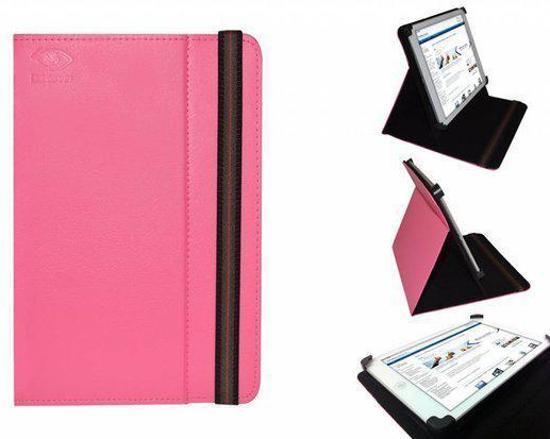 Hoes voor de Prestigio Multipad Visconte , Multi-stand Case, Hot Pink, merk i12Cover