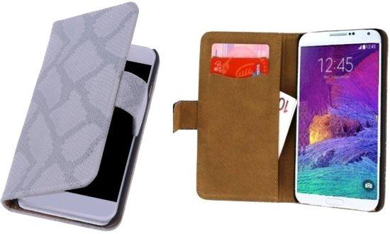 Alternate LACE Book Case Flip Hoesje Samsung Galaxy Note 4  Snake Grijs in Leutingewolde