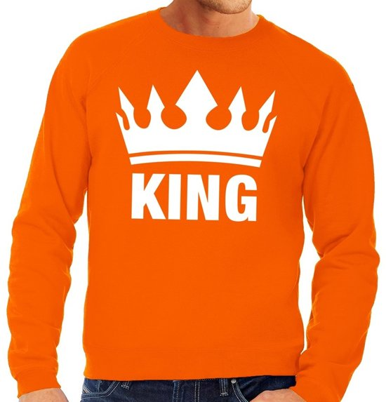 Trui Sweater.Bol Com Oranje Koningsdag King Sweater Trui Heren Oranje