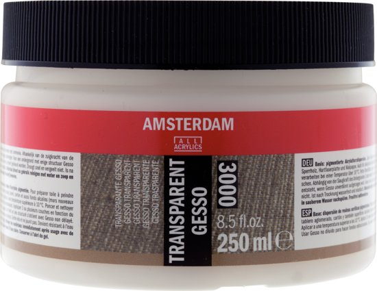 Talens - Amsterdam - Gesso - Transparant - 250 ml
