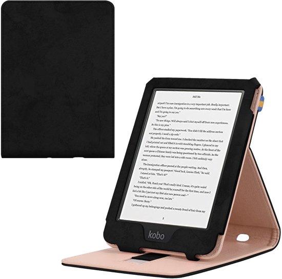 Kobo Clara HD e-Reader Premium Hoes Case Cover Zwart - Stand - Beschermhoes - Sleepcover