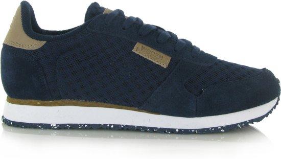 WODEN Dames Sneakers Ydun Suede Mesh Blauw Maat 36