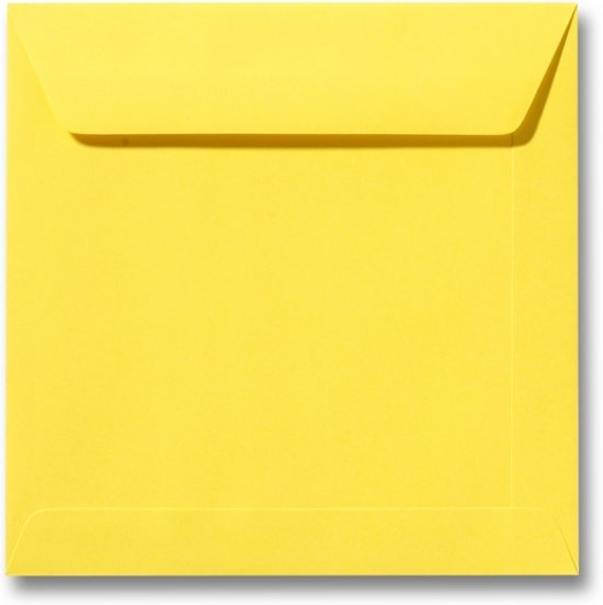 Envelop 19 x 19 Boterbloemgeel, 100 stuks
