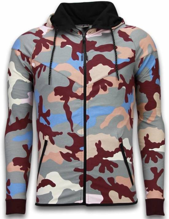 JMPR Exclusive Camo Trainingspakken - Camouflage Joggingpak - Grijs - Maat: XL