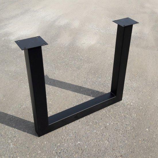 Metalen tafelpoten stalen u poot zwart gecoat - Zwart gecoat ...