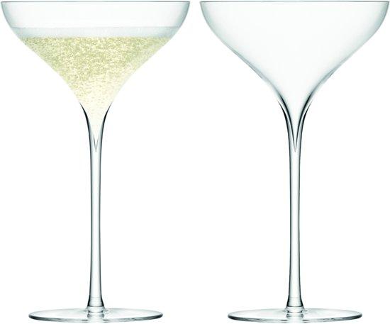LSA Savoy Champagnecoupe - Glas -200 ml - Set van 2 Stuks - Transparant