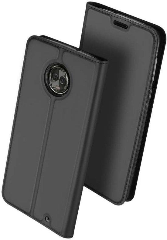 Porte-monnaie Noir Livret Tpu Pour Motorola Moto, Plus G6