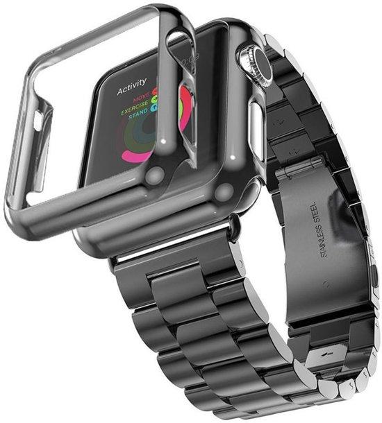 Stainless Steel Horloge Band 42MM Voor de Apple Watch - Roestvrij Staal Armband Watchband Voor de iWatch - Zwart