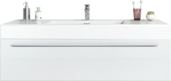 Bol.com badplaats badkamermeubel garcia 120cm hoogglans wit