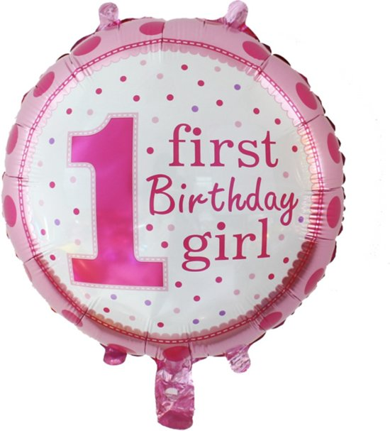 Bol Com Verjaardag Ballon 1 Jaar Meisje Merkloos Speelgoed