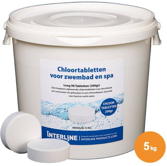 Interline Zwembad Interline chloortabletten - 200 grams, 5 kg