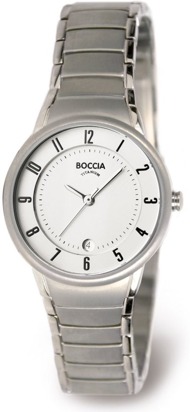 Boccia 3158-01 horloge dames - grijs - titanium