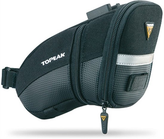 Topeak Aero Wedge Packs Medium - Met Strap - Zadeltas - 1.2 l - Zwart