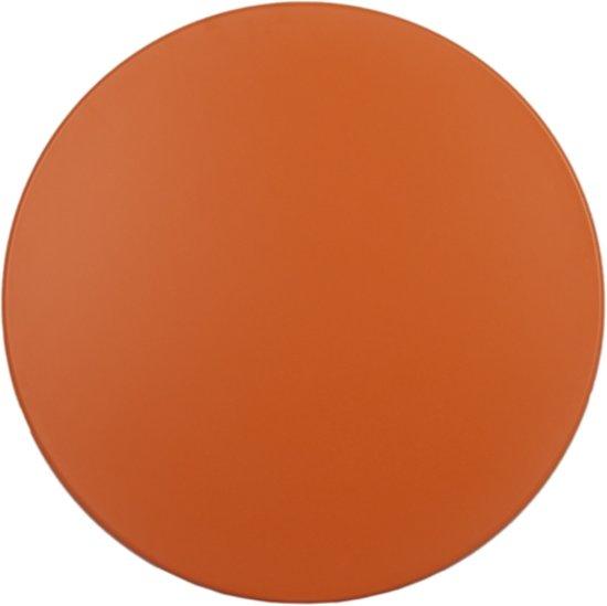 Rond Tafelblad Buiten.Maximavida Topalit Tafelblad Oranje Rond 70 Cm Binnen En Buiten Gebruik