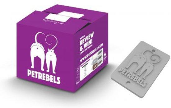 Petrebels krabpaal sweet petite chalet 145 fuzzy grey 60cm x 50cm x 145cm