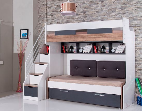 Bol compact kinderkamer voor kleine kamer hoogslaper