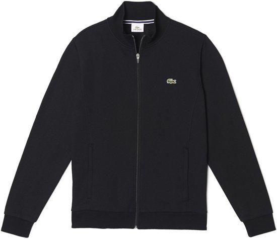 Lacoste heren sweatshirt - zwart (met rits) -  Maat XXL