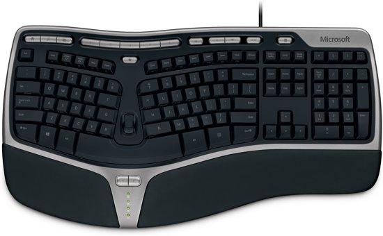 Microsoft Natural Ergo 4000 - Toetsenbord - Qwerty - Zwart
