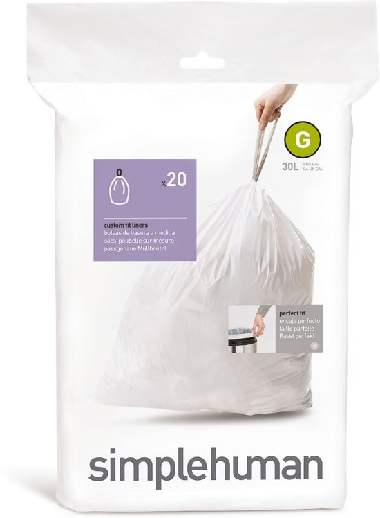 Simplehuman Afvalzak Code G - 30 Liter (20 stuks)