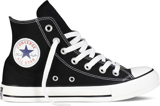 All Black Converse Star white Hoog Sneakers z46Pdq