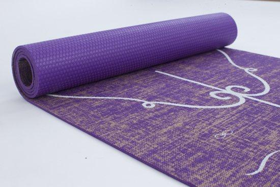 YOGAVIBE ECO-PRO Jute Yoga Mat Paars