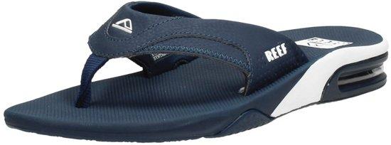 bol | reef fanning blauw slippers heren