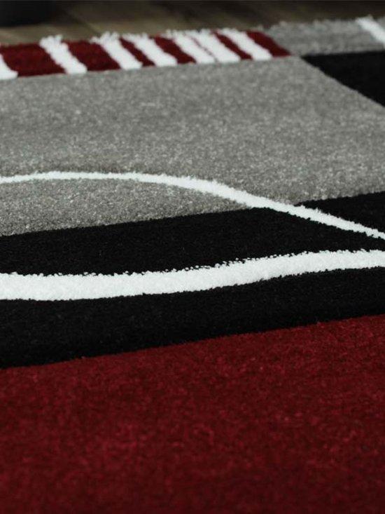 """tapeso Florida - Vloerkleed - 160x230 cm - Synthetisch - Rood"""