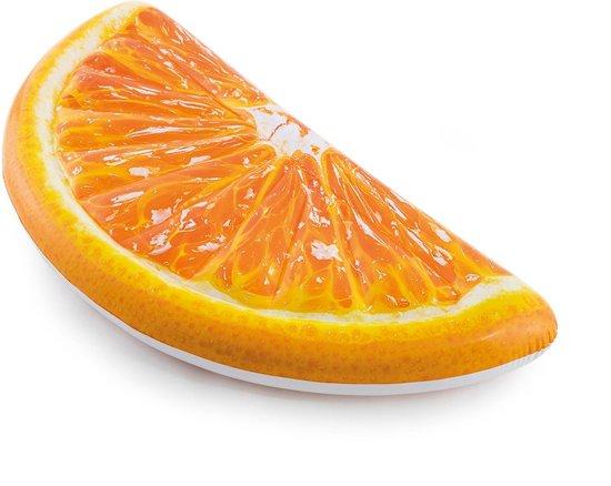Sinaasappel opblaasbaar Intex: 178x85 cm