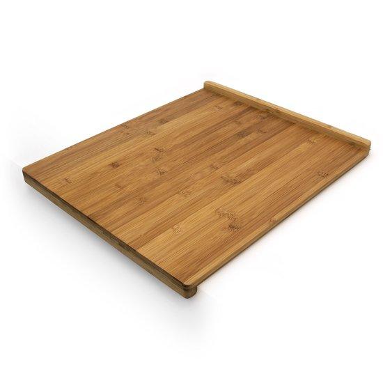 relaxdays snijplank bamboe hout - Met rand voor stabiliteit - Geur- en reukvrij