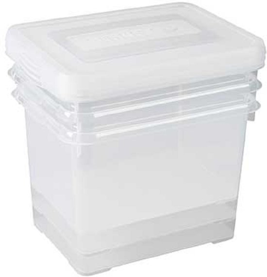 Allibert Handy2 Box 20l Transparant set van 3
