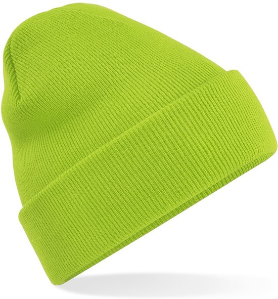 Beechfield Original Cuffed Beanie Lime Green