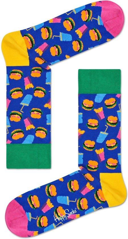 Happy Socks Hamburger Sokken - Multi - Maat 36-40