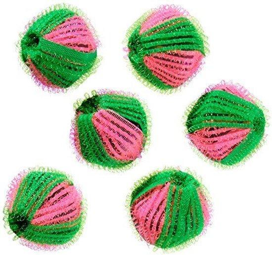 ComfortTrends Wasmachine ballen Pluizen ballen 6 stuks  - Klittenbandballetjes