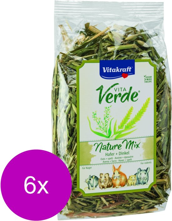 Vitakraft Vita-Verde Haver En Graan - Knaagdiersnack - 6 x 100 g
