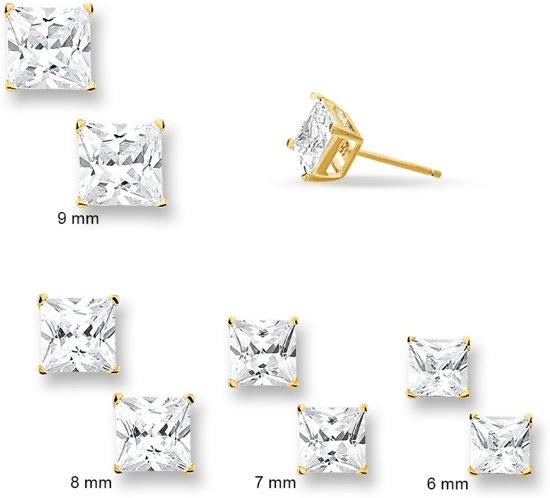 Trendjuwelier huiscollectie 4010363 Gouden vierkante oorbellen