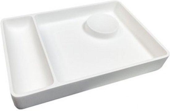 Badkamer Plateau Ideavit Solidplate Organizer 32x22x4.5cm Solid Surface Mat Wit