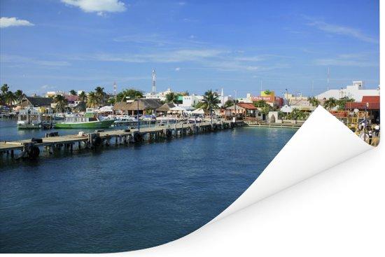Het eiland Isla Mujeres in Mexico tijdens de zomer Poster 90x60 cm - Foto print op Poster (wanddecoratie woonkamer / slaapkamer)