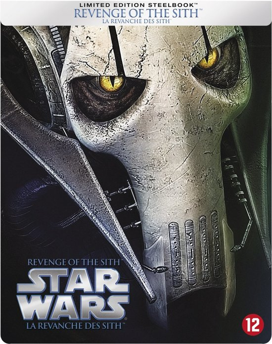DVD cover van Star Wars III: Revenge Of The Sith (Limited Edition Steelbook Blu-ray)