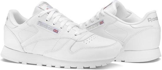 5b7f46c434b bol.com | Reebok Dames Sneakers Cl Leather Wmn - Wit - Maat 38,5