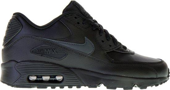 Nike Air Max 90 Leather Gs Kids shoes (blackblack)